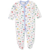 Vitamins Baby Baby Boys' Footed Coverall - white, 6 months